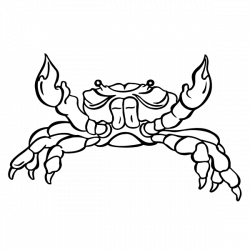 Crab Visual arts Black and white Clip art - Hand Painted,crab 600 ...