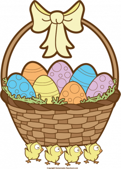 Clipart easter easter basket - Graphics - Illustrations - Free ...