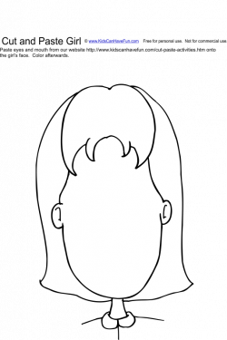 Cut and Paste Girl Face Activity | SLP To-Be | Pinterest | Girl face ...