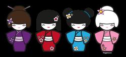doll kokeshi clipart   Journal   Pinterest   Dolls, Kokeshi dolls ...