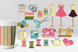 Hobby craft sewing graphics illustration | DIY Craft ...