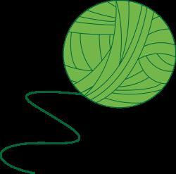 Clipart - Green Ball of Yarn