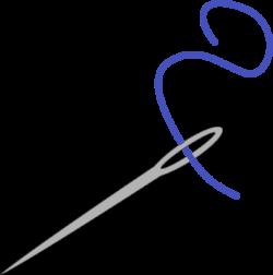 Needle With Blue Thread Clip Art at Clker.com - vector clip art ...