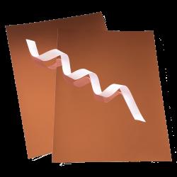 Copper Mirror Cardstock | 100 lb. 8.5 x 11 | 10 Sheets | Flat Ships ...