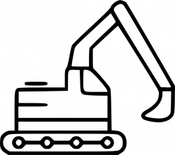 Excavator Engineering Industrial Equipment Machine Heavy Svg Png ...