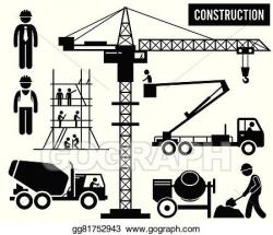 Vector Stock - Heavy construction pictogram. Clipart ...
