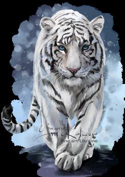 White Tiger by Kajenna.deviantart.com on @DeviantArt | Wild Life ...