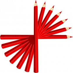 Pencil Clipart Red Color Free collection | Download and share Pencil ...