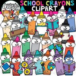 School Crayons Clipart {School Clipart}