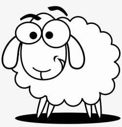 Funny Sheep Outline Clip Art - Sheep Clipart Black And White ...