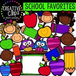 HUGE FREEBIE! School Favorites {Creative Clips Digital Clipart}   TpT