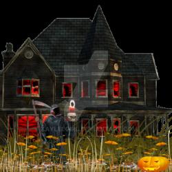 creepy house ontop of a creepy hill by kayleegirl on DeviantArt