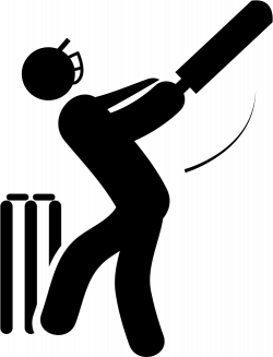 Cricket Player With Bat Svg Png Icon Free Download (#21613 ...