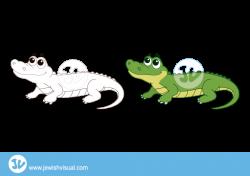 Crocodile clipart - תנין - JVisual