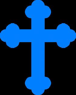 Blue Cross Clip Art at Clker.com - vector clip art online, royalty ...
