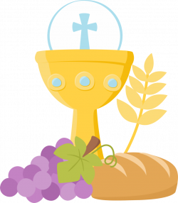 First Communion Objects in Blue Clip Art. | Oh My First Communion!