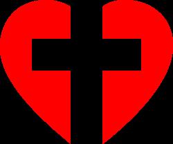 Clipart - Heart Cross