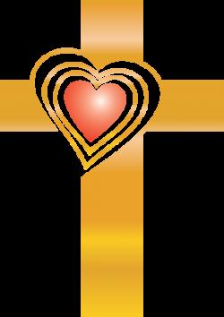 Image: Gold Heart Cross | Cross Image | Christart.com
