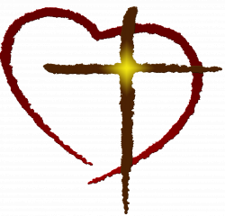 Heart And Cross Clipart