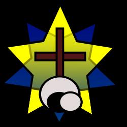 Clipart - Symbolism - Star, Cross, Empty Tomb