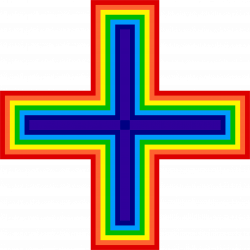 Rainbow Cross Icons PNG - Free PNG and Icons Downloads