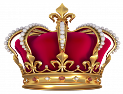 Red Gold Crown with Pearls PNG Clipart Picture | Crafting - Regal ...