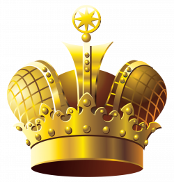 Golden Crown PNG Clipart | Gallery Yopriceville - High-Quality ...