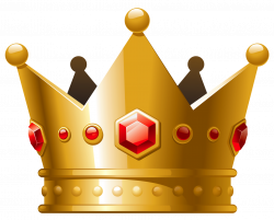Gold Crown with Red Diamonds PNG Clipart | Gallery Yopriceville ...