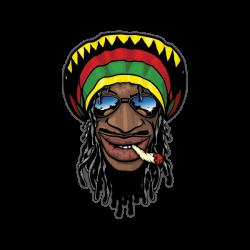 Printed vinyl Jamaican Man Smoking | Stickers Factory
