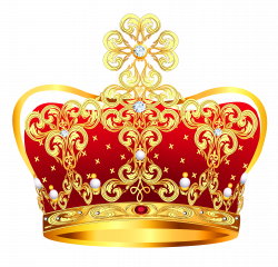 Gold and Red Crown with Pearls PNG Clipart Picture | Gallery ...