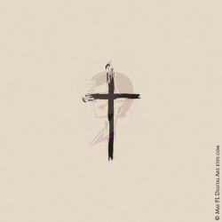 Christian Cross Clipart - Thin Cross Brushstroke Clipart for DIY Sympathy,  Easter or Wedding Card, Cardmaking - FREE Commercial Use 10755