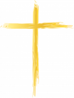 Crucifix Yellow - Thin Cross Cliparts png download - 2471 ...