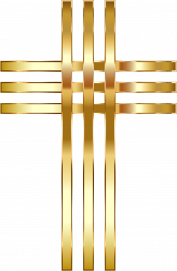 Clipart - Stylized Golden Cross No Background
