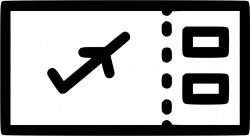 Flight Air Ticket Boarding Pass Svg Png Icon Free Download (#538673 ...
