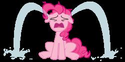 Something made Pinkie cry... feels bad man by randomtmcr on DeviantArt