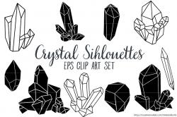 Crystal Silhouettes Clip Art EPS ~ Illustrations ~ Creative Market
