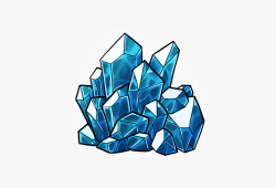 Collection Of Free Crystals Drawing Detailed Download - Blue ...