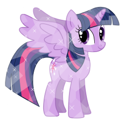 Alicorn Princess Twilight as Crystal Pony Vector by MelodyCrystel ...