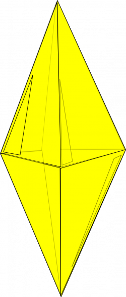 Clipart - Yellow Crystal
