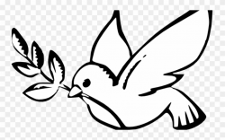 Culture Clipart Non Violence - Peace Dove Clip Art Black And ...