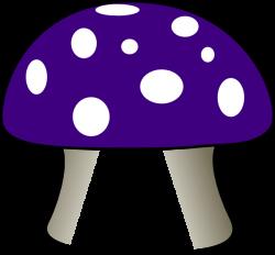 toadstool Clip Art | Purple Mushroom clip art - vector clip art ...