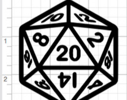 D20 sticker | Etsy
