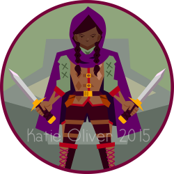 Female Halfling Vector Art Token www.koanimation.co.uk | Dungeons ...