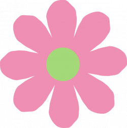 Pink & Green Daisy Clip Art at Clker.com - vector clip art online ...