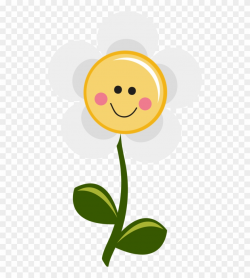 Smiley - Happy Daisy Flower Clipart (#934721) - PinClipart