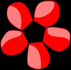 Red Daisy White Center Clip Art at Clker.com - vector clip art ...