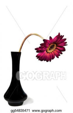 Stock Illustration - Sad daisy. Clipart gg54835471 - GoGraph