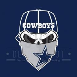 Dallas Cowboys Skull SVG File Dallas Cowboys Skull SVG Wall ...