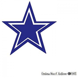 Crawford Graphix Dallas Cowboys Navy Blue Emblem Star Car Window Decal  Sticker (2 Pack 5