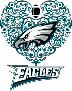Eagles Heart Football SVG DXF PNG Cricut Silhouette | Cricut ...